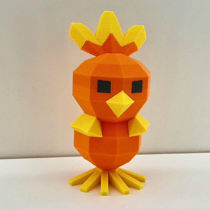 Low Poly Torchic - Multi color