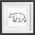 cuadro de un oso image