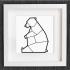 cuadro de un oso sentado image