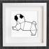 cuadro de un perro pug image