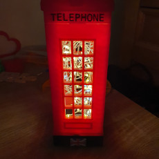 Picture of print of London Telephone Table Lamp
