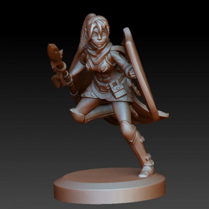 Warrior elf spearmaiden