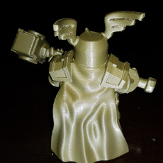 Picture of print of Dwarf with warhammer