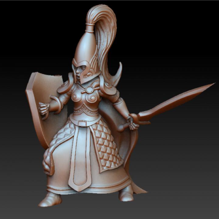 High elf female guardian