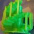 Double helix spiral staircase. Scala a chiocciola doppia elica image