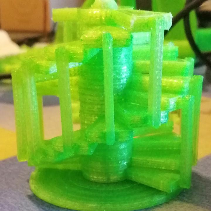 Double helix spiral staircase. Scala a chiocciola doppia elica