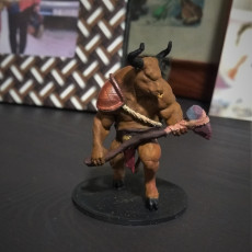 Picture of print of Minotaur - D&D Miniature