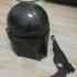 Mandalorian Helmet print image