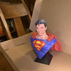 Picture of print of Superman Chris Reeve Bust