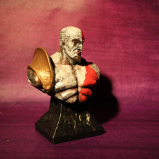 Picture of print of Kratos Bust GOW III