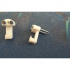Minimalist hook for glass frame image