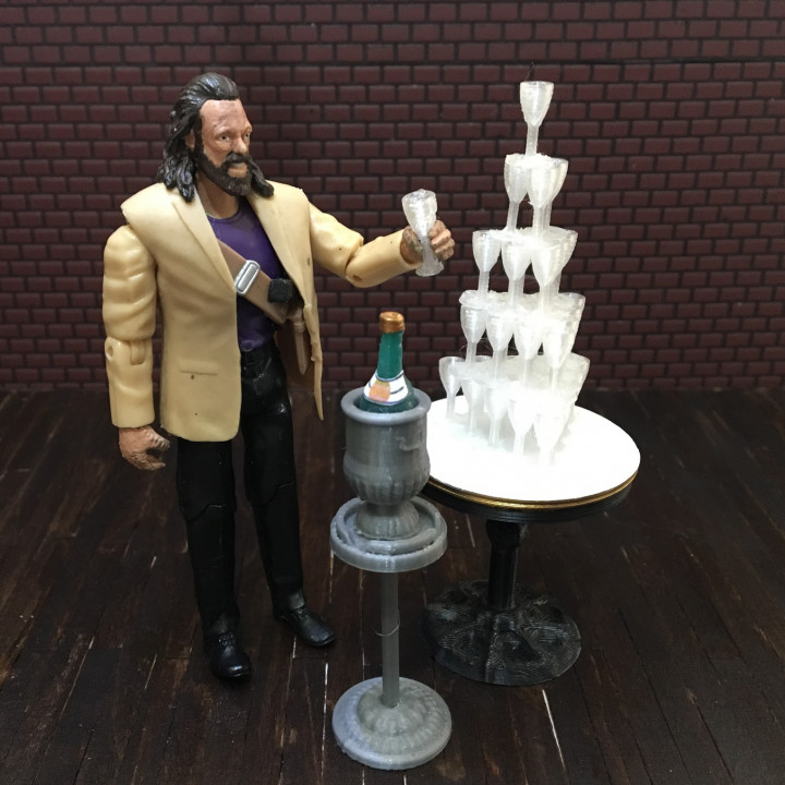 Champagne Bucket and Stand (1:18 scale)