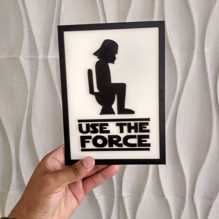Decoration Plate - Use the force