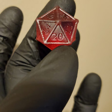 Picture of print of dice game