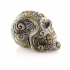 Skull necklace and decorative skull print image