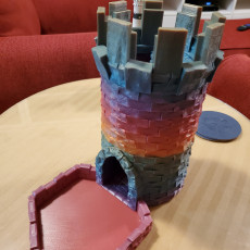 Picture of print of Medieval Stone Dice Tower - Modular