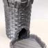 Medieval Stone Dice Tower - Modular print image