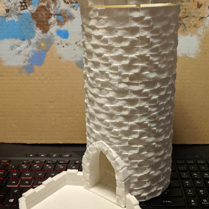 Medieval Stone Dice Tower - Modular