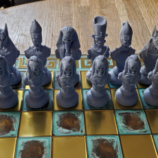 Picture of print of Egyptian Chess Alive vs Dead