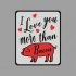 Plate - I Love you more than Bacon image