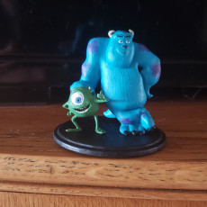 Picture of print of Mike and Sully From Monster inc