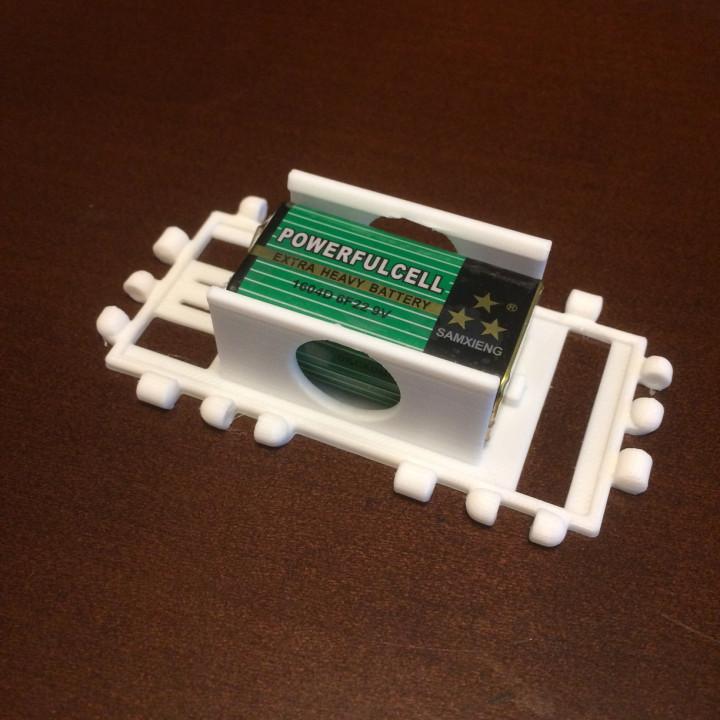 Polypanel 9v battery holder (2 Squares)