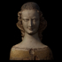Requilary Bust of a Female Saint image