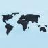 Pixelated World Map image