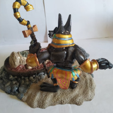 Picture of print of Anubis and Mummy