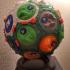 3D Settlers of Catan polypanel globe print image