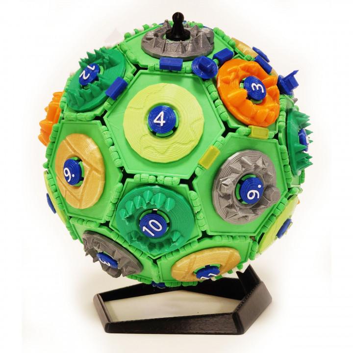 3D Settlers of Catan polypanel globe