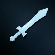 Picture of print of D&D miniature Sword 这个打印已上传 Li WEI Bing