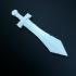 D&D miniature Sword print image