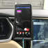 Car phone holder + AC outlet mount for a Pixel 2 XL with bumper on a Tesla Model S image