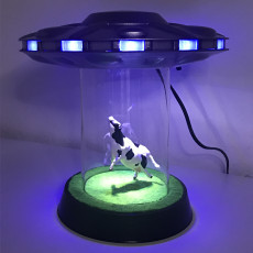 UFO Abduction Lamp with blinking lights