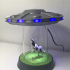 UFO Abduction Lamp with blinking lights image