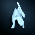 Human paladin with sword and sheld print image