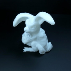 Picture of print of Monster easter bunny