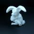 Monster easter bunny print image