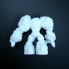 Picture of print of stone golem elemental