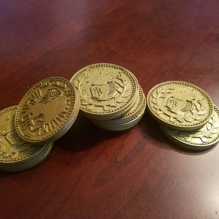 3D Printable Continental Gold Coin-John Wick By T-E-C