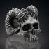 Ring Skull Horned Demon STL image