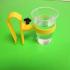 Drink holder / Pinza palmar con soporte para vaso image