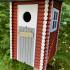 Birdhouse like an outhouse image