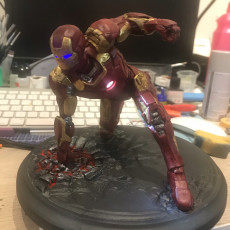 Picture of print of Iron Man MK43 - Super Hero Landing Pose - with lights - MINIMAL SUPPORTS EDITION This print has been uploaded by Fabrizio Vallone