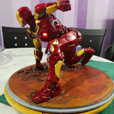 Picture of print of Iron Man MK43 - Super Hero Landing Pose - with lights - MINIMAL SUPPORTS EDITION This print has been uploaded by Fasya Daud