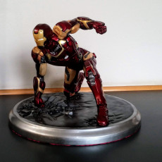 Picture of print of Iron Man MK43 - Super Hero Landing Pose - with lights - MINIMAL SUPPORTS EDITION