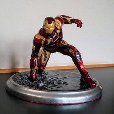 Picture of print of Iron Man MK43 - Super Hero Landing Pose - with lights - MINIMAL SUPPORTS EDITION This print has been uploaded by Jeff
