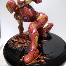 Picture of print of Iron Man MK43 - Super Hero Landing Pose - with lights - MINIMAL SUPPORTS EDITION This print has been uploaded by Agustin Ligero