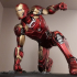 Iron Man MK43 - Super Hero Landing Pose - with lights - MINIMAL SUPPORTS EDITION image